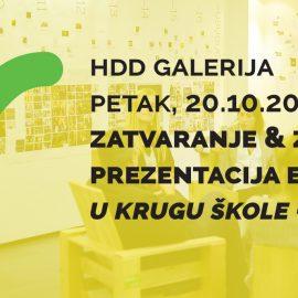 Zatvaranje i prezentacija etape projekta U krugu Škole – Zeleni val u HDD Galeriji